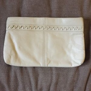 Leather Cream Clutch. Vintage -Free Offer-